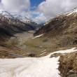 Blick zum Lago die Lei von der Schneegrenze