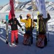 Swiss Snowkite Tour, Jonas vor Turni und Kaspar