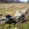 Bike / Kitemobil am Fusse des Stella